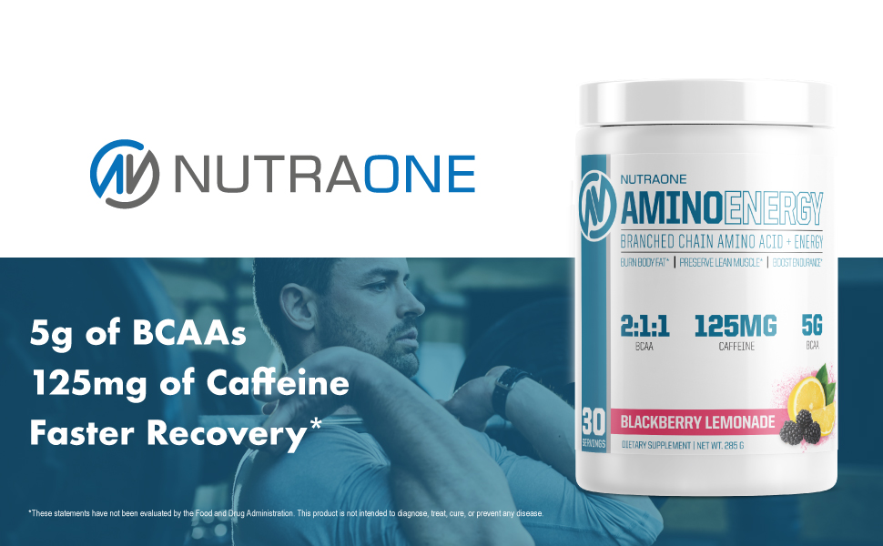 5g of BCAAs 125mg of Caffeine Faster Recovery