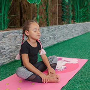 kids exercise equipment pink yoga outdoor indoor friendly  foldable   blankets blanket  mat