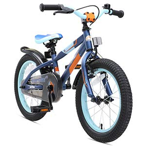 BIKESTAR Bicicleta Infantil para niños y niñas Bici de montaña 16 Pulgadas Mountainbike