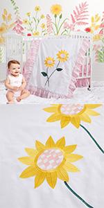 sunflowercribbeddingset