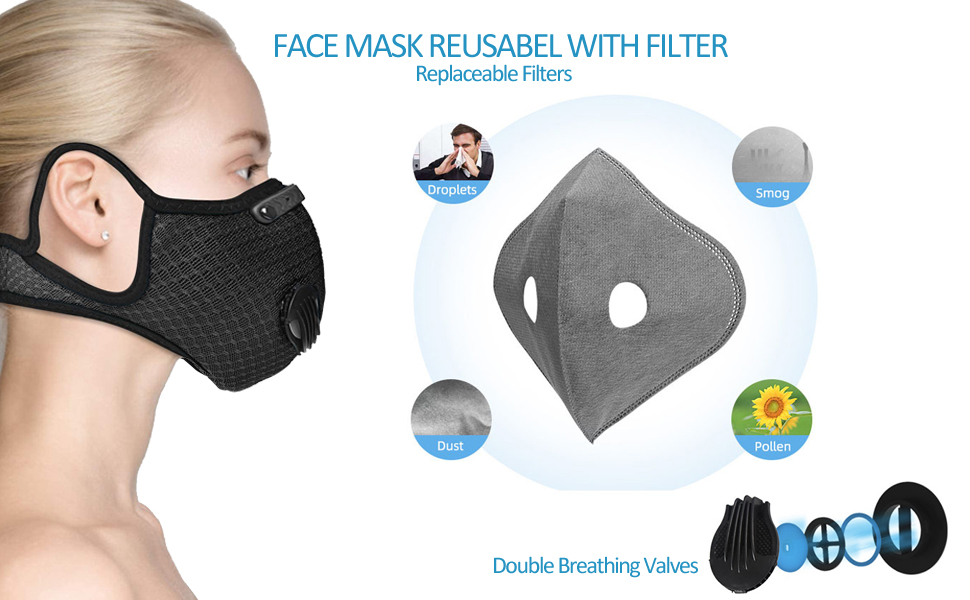 face mask with filter