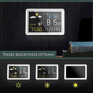3 brightness leve;