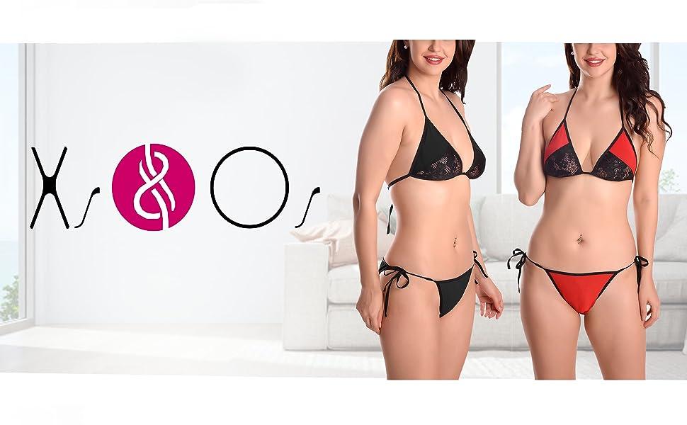xs and os bra panty bikini sexy lingerie set for women sexy lingerie