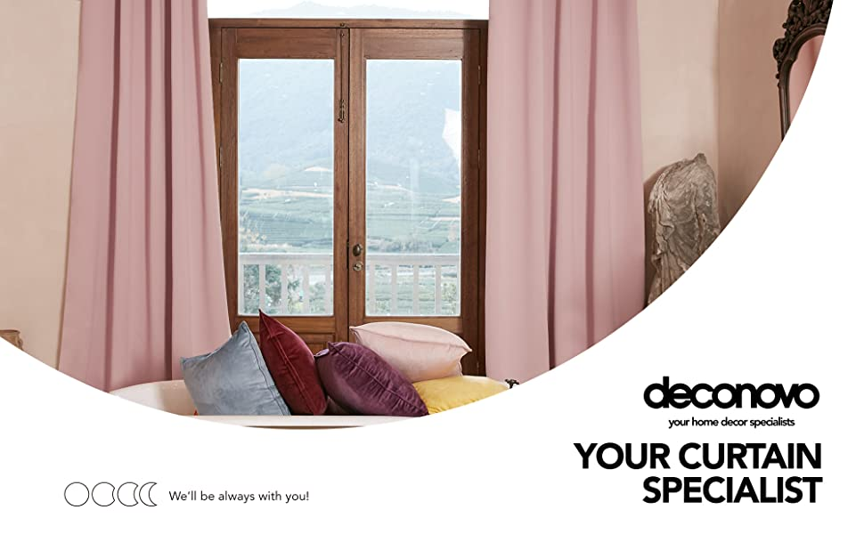 coral pink blackout curtains for bedroom
