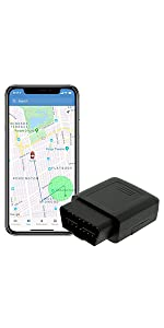 Brickhouse Security Wired Super Bundle 4G Livewire GPS Tracker with Portable Transferable OBD Connector Cable
