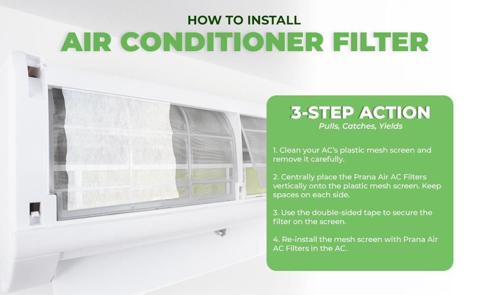 prana air split ac filter installation