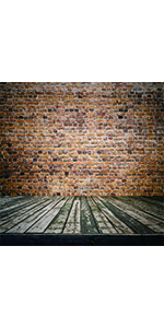 CdHBH 8x8ft Brick Wall Wood Floor Pictorial Cloth Customized Photography Backdrop Background Studio Prop GA08
