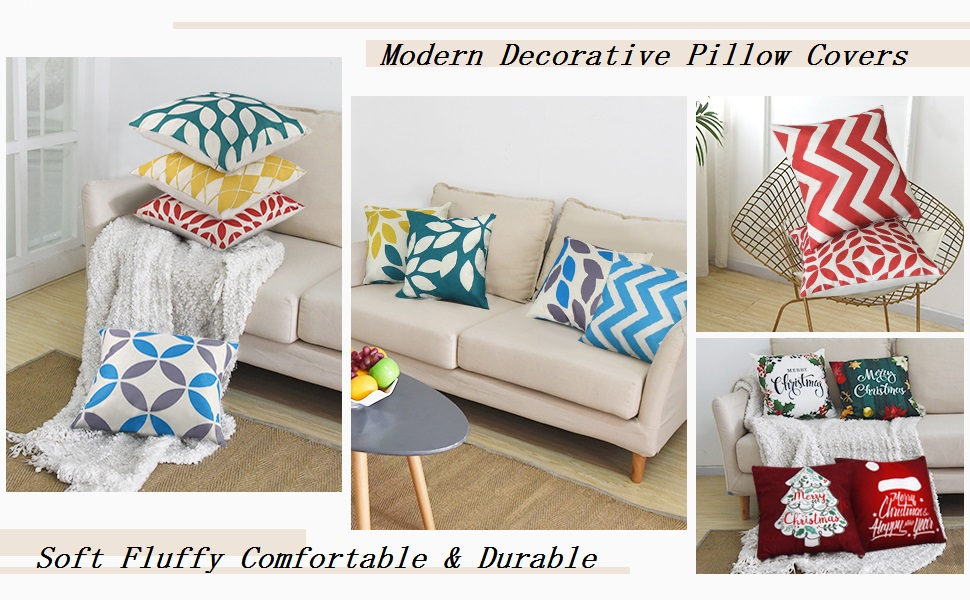 Pendali Throw Pillow Covers Modern Geometry Cushion Pillowcases Decorative Outdoor Polyester Fabric Pillow Case For Living Room Bed Sofa Chair Couch Orange And Beige 18x18 Inches Set Of 4 Home