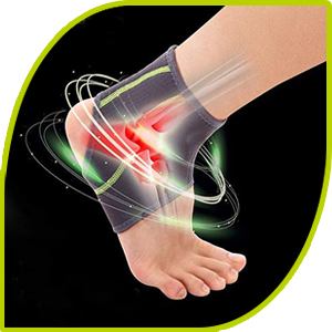 SENTEQ Compression Ankle Brace provides foot support & relief for sprains, Arthritis, & torn tendons