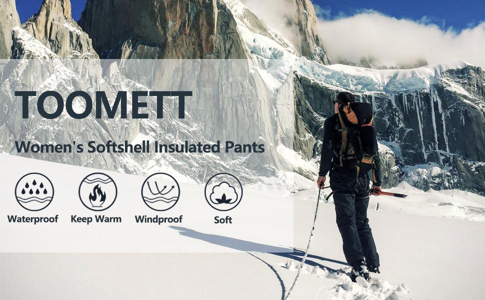 Amazon Com Pantalones Impermeables Para Mujer Con Forro Polar Y Forro Polar Para Invierno Senderismo Camping Viajes Clothing