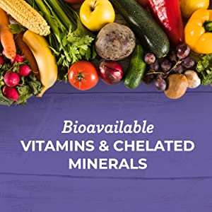 vitamins and chelated minerals