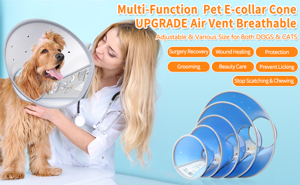 dog cone collar, recovery dog e-collar Genneral info.