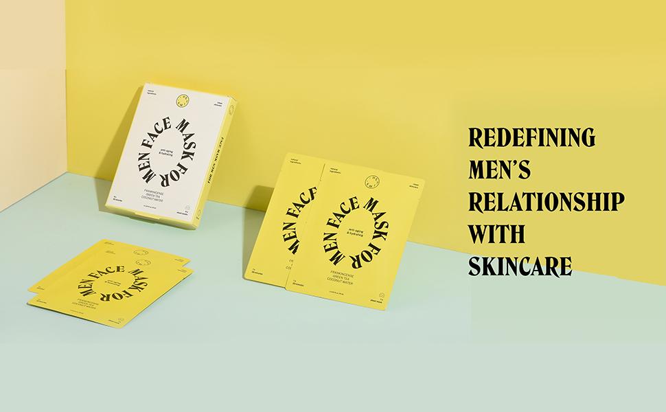 hetime, men, face mask, skincare, anti-aging, reduce, fine lines, wrinkles, tighten, skin, hydrating
