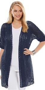 Crochet Long Cardigan Sweater