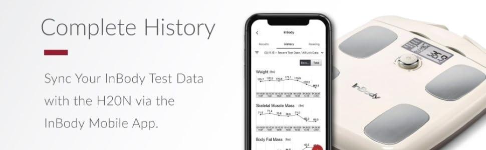 InBody, complete history, H20N, InBody Mobile App