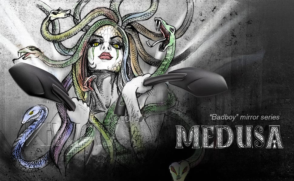 Badboy motorcycle mirror series - Medusa
