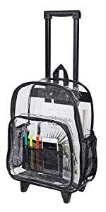 Rolling Clear Backpack