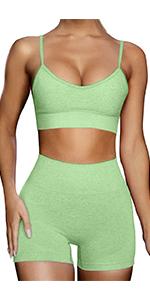 women sealess workout set