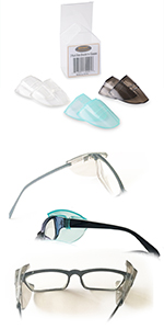 WAHAH 3 Pairs 3 Color Side Shields for Eyeglasses