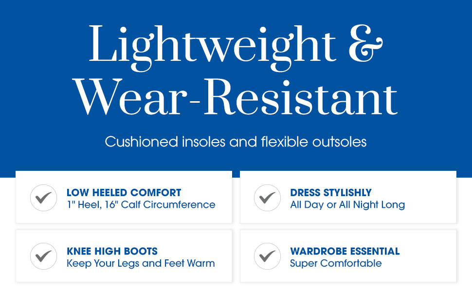 Lightweight amp; Wear-Resistant. Cushioned insoles and flexible outsoles
