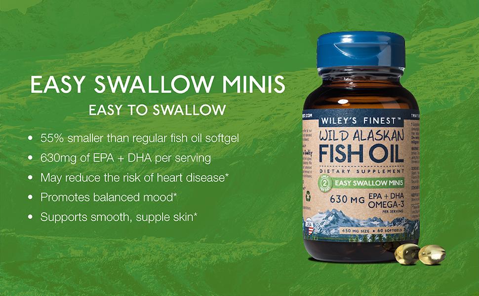 burpless easy swallow mini omega-3 fish oil pills