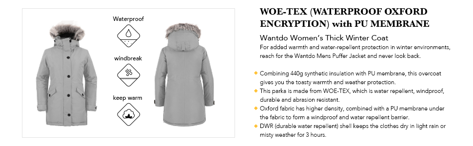 Wantdo Women's Warm Winter Coat