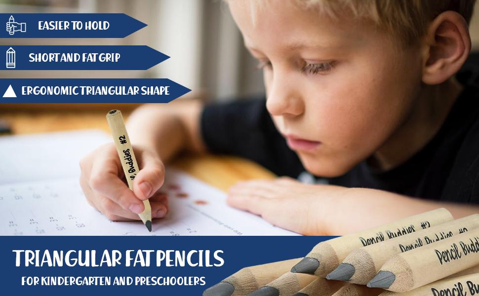 short fat pencils thick pencils for preschoolers triangular triangle pencils for kids writing grip