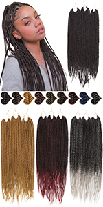 Box braiding hair