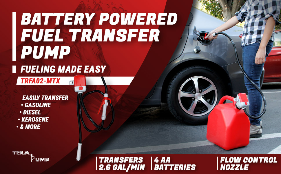 battery powered fuel transfer