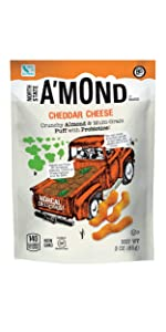 cheddar cheese snack puffs crunch chip natural crunchy salty