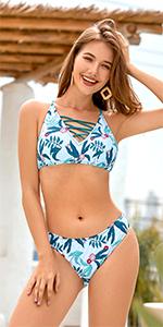 moda mare costume due pezzi bikini donna bianco fascia coppe slip 5015