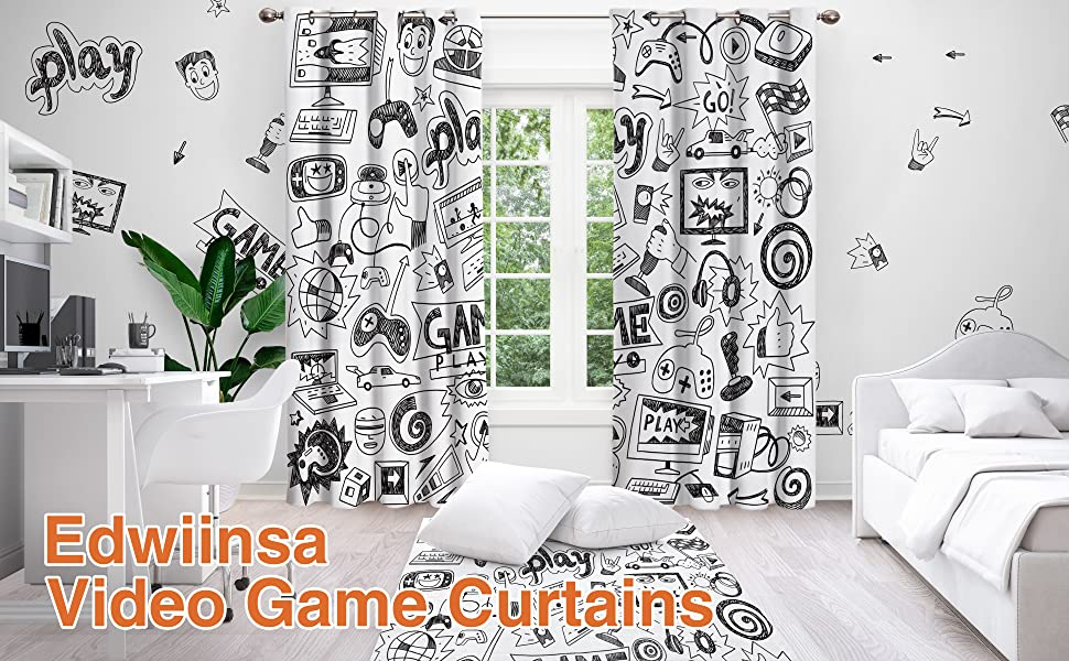 video games curtains