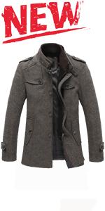men's wool pea coats