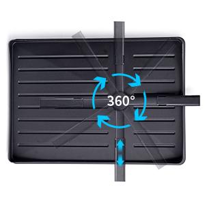 black dish rack and drainboard set