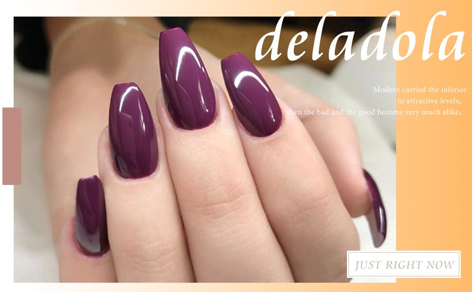 purplr fake nail