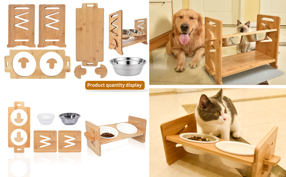 Raised Pet Bowl for Cats and Small Dogs