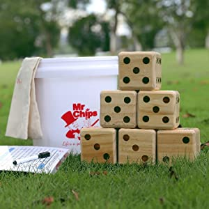 Giant lawn dice set