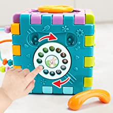 musical activity cube baby toy