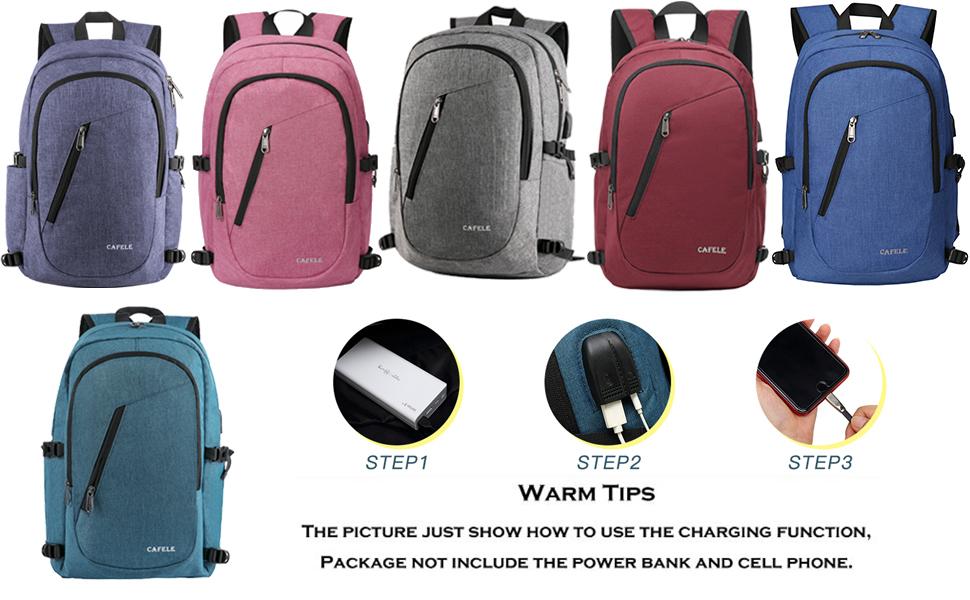 e649d4b5da9a Cafele Laptop Backpack,Travel Computer Bag for Women & Men,Anti ...