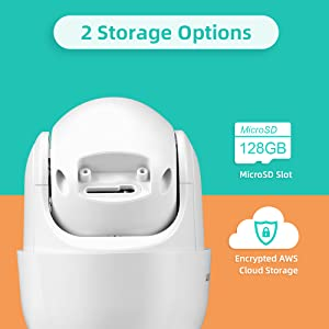 Security Camera with MicroSD Card Slot and Supports AWS Cloud Storage