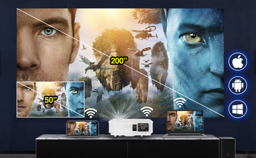 wifi projectors with bluetooth