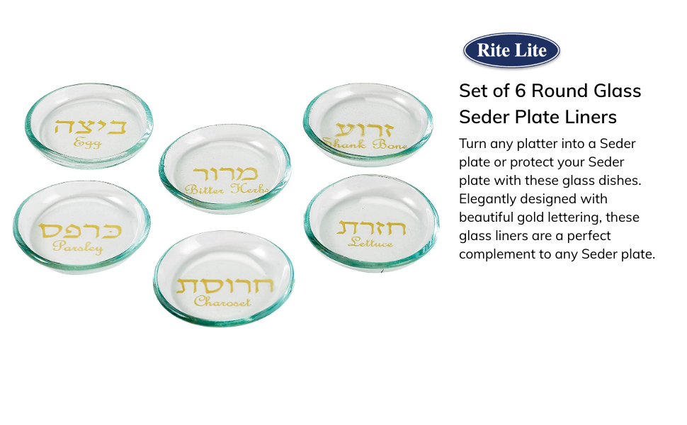 glass seder plate liners