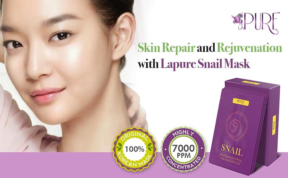 snail mask sheet sheets secretion filtrate face gel pack extract pure korean facial cotton collagen