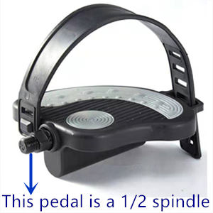 1/2 spindle pedal