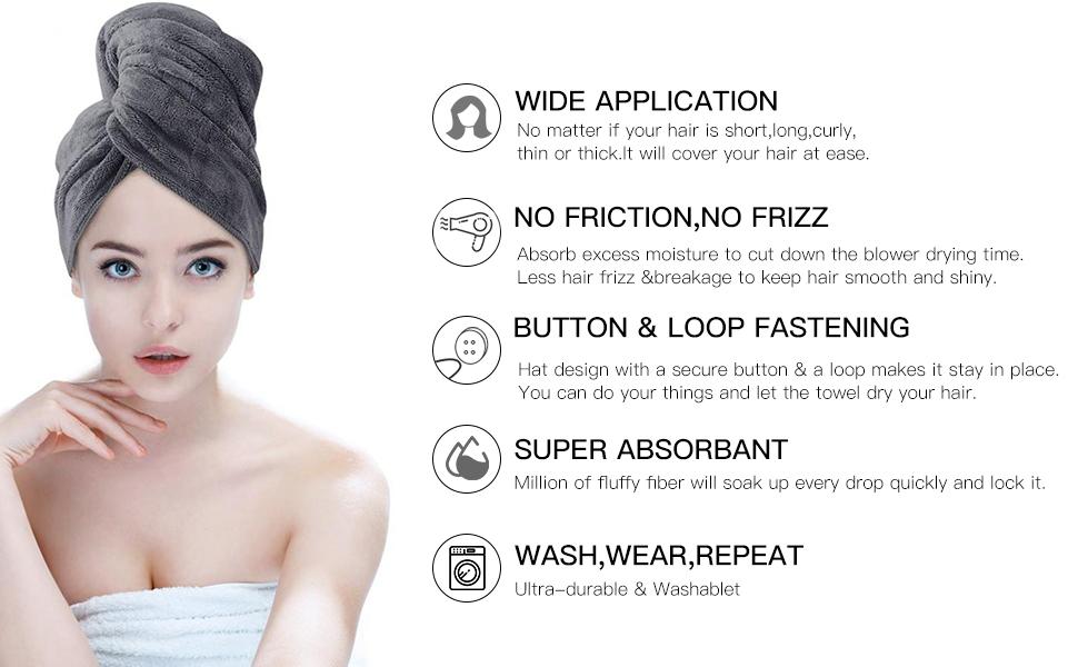 microfiber hair towel for curly hair