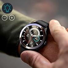 Men's smart watch with brightness adjust