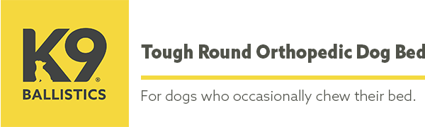 tough round orthopedic dog bed