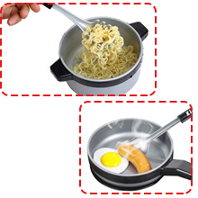 Induction Pan Cooking Bowl Spout Easy To handle Carry Cook Imagine Imagination Creative