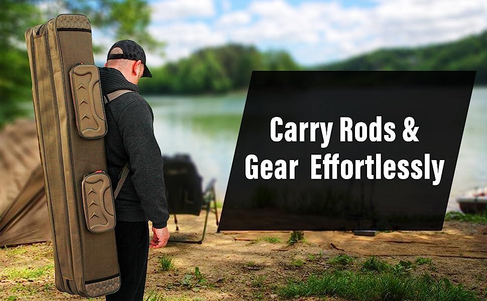 fishing pole rod carry case