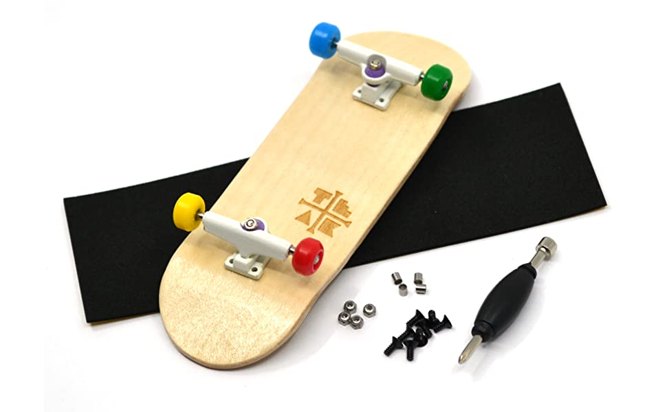Bearing Wheels Pro Board Shape and Size PROlific Complete Fingerboard with Upgraded Components Everything is Awesome Edition Trucks 32mm x 97mm Handmade Wooden Board and Locknuts